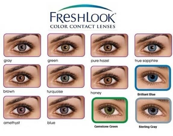 Non Prescription Colored Contacts >> Freshlook Colorblends Non Prescription Colored Contacts Ne Columbia