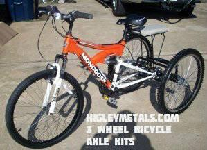 3 Wheel Special Needs Bicycles Three Wheel Bike Axle Conversion Kit
